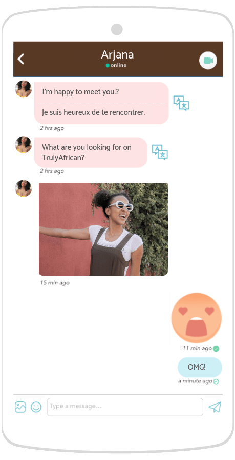 chatting with an African woman