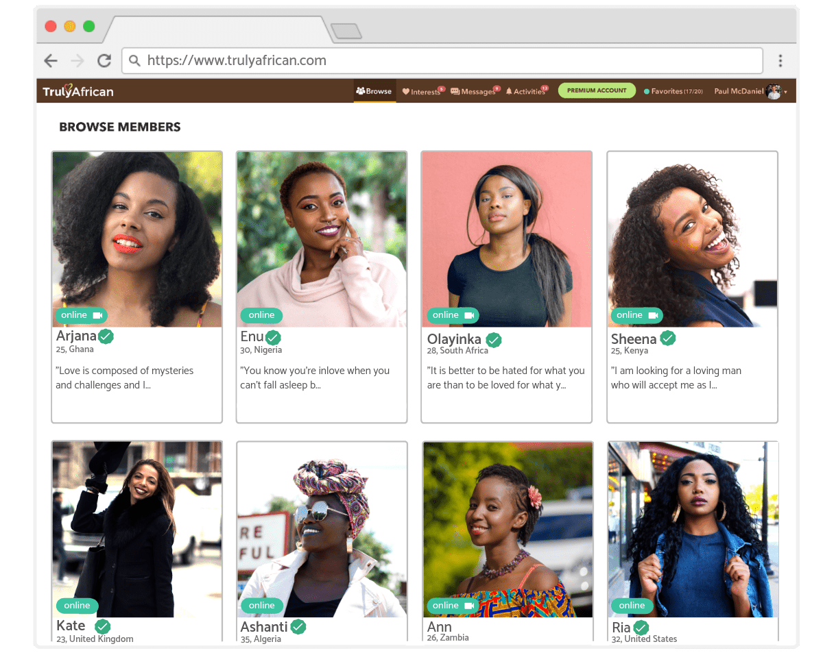 profiles of african singles