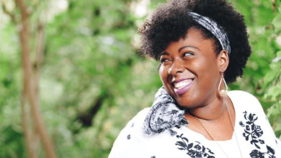 a smiling gambian woman
