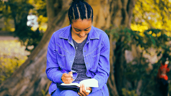 a nigerian girl studying