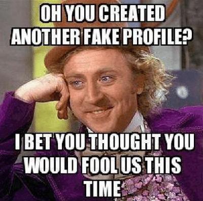 fake profile meme