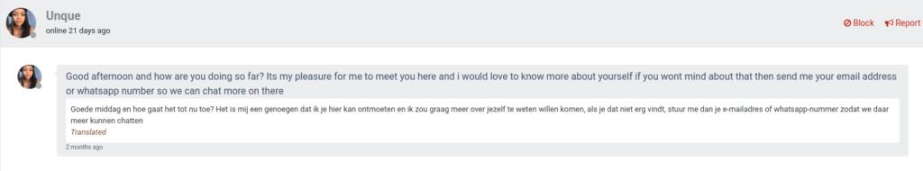online dating scammer #2