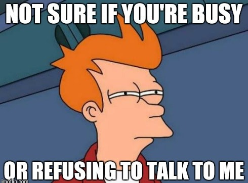 refusing to talk meme